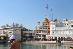 At the golden temple complex in Amritsar. At the golden temple complex in Panjab Stock Image