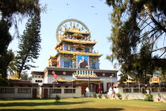 Golden Temple Coorg Stock Photo