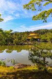 Golden Temple. The `Golden Temple,` covered in gold leaf in  garden setting in the ancient Japanese city of Kyoto royalty free stock photography