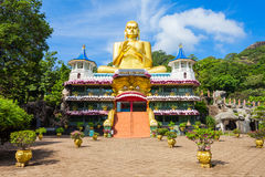 Golden Temple of Dambulla. Or Dambulla Cave Temple is a World Heritage Site near Dambulla, Sri Lanka stock photo