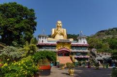 Golden Temple of Dambulla, Sri Lanka. Dambulla cave temple also known as the Golden Temple of Dambulla is a World Heritage Site (1991) in Sri Lanka Stock Photography