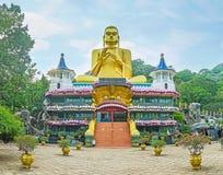 The Golden Temple in Dambulla Stock Image
