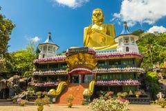 Golden Temple Dambulla. The Golden Temple in Dambulla Sri Lanka - a UNESCO heritage site Royalty Free Stock Image