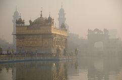 Golden temple at dawn Royalty Free Stock Photos
