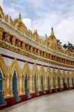 Golden temple detail in Sagaing, Myanmar Royalty Free Stock Photos