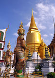 Golden Temple Dome & Guards At The Grand Palace Stock Photos