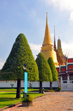 Golden Temple Dome & Spire at the Grand Palace. Stock Photography