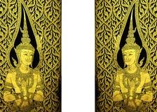 Golden temple doors Stock Image