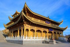 The golden temple of Emeishan peak. Royalty Free Stock Photos