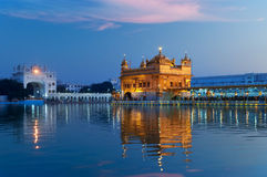 Golden Temple in the evening. Amritsar. India Royalty Free Stock Image