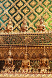 Golden temple gable in Thailand Stock Images