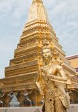 Golden temple. Gold statue religion mythical creature pagoda Buddhist Buddha Buddhism Royalty Free Stock Photos