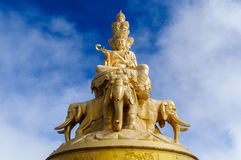 Golden Temple and Golden Summit at Emei Shan  Sichuan, China. Golden Temple, Golden Summit, samantabhadra Buddha at Emei Shan  Sichuan, China Stock Image