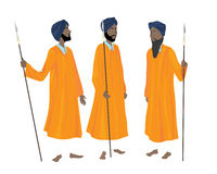 Golden temple guards Royalty Free Stock Photography