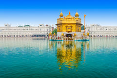 Golden Temple. (Harmandir Sahib) in Amritsar, Punjab, India Stock Photography