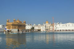 The Golden Temple-2. The Harmandir Sahib (The Golden Temple) is the holiest shrine in Sikhism. It is located in the city of Amritsar - India Stock Photo