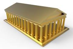 Golden temple illustration Stock Image