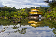 Golden temple in Japan. Golden temple near beautiful lake, Japan Stock Image