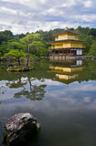 Golden temple in Japan Royalty Free Stock Images