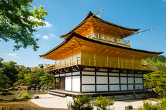 Golden temple in japan Stock Image