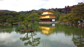 Golden temple  in japan Royalty Free Stock Image