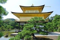The Golden temple Kinkaku-ji in Japan in Kyoto. Temple of the Golden Pavilion Kinkaku-ji in Japan in Kyoto Royalty Free Stock Image