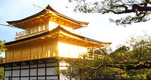 Golden temple or Kinkakuji in Kyoto Japan. Royalty Free Stock Images