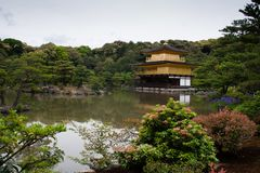 Golden temple in Kyoto Royalty Free Stock Images