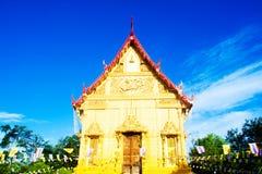 Golden temple landmark of Wat Pra Sri Arn against blue sky in Ph Stock Photography