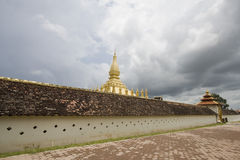 Golden temple in laos Stock Photography