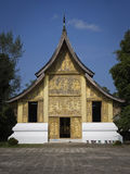 Golden temple in luang prabang in laos Royalty Free Stock Photo