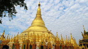 Golden temple in Myanmar Stock Image