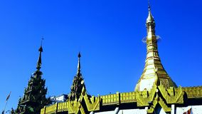 Golden Temple Myanmar. Sule Pagode Yangon Myanmar royalty free stock photos
