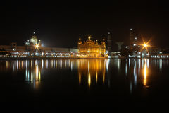 Golden Temple in night Stock Image