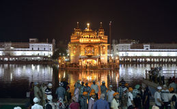 Golden Temple at Night, Amritsar Stock Photography