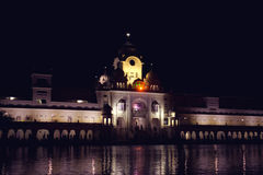 Golden temple at night Royalty Free Stock Photo