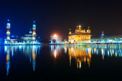 Golden Temple at night. Amritsar. India Royalty Free Stock Image