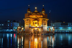 Golden Temple at night. Amritsar. India Stock Images