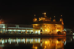 Golden Temple at night - heart of Sikh religion,Amritsar Stock Image