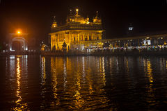 Golden Temple at night Royalty Free Stock Photos