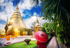 Golden Temple in Northern Thailand Stock Image