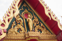 The golden temple roof in thai temple Royalty Free Stock Images