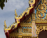 The golden temple roof in thai temple. Thai Royalty Free Stock Photo