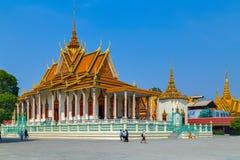 Golden temple Royal Palace Pnom Penh, Cambodia. Royal Palace exterior Golden temple in Phnom Penh, Cambodia Stock Photo