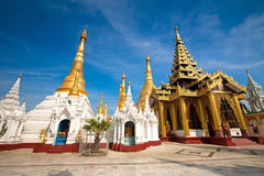 Golden temple of Shwedagon Pagoda, Yangon, Myanmar Royalty Free Stock Photography