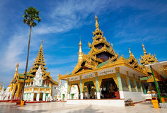 Golden temple of Shwedagon Pagoda, Yangon, Myanmar Royalty Free Stock Photos