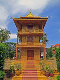 Golden temple in Siem Reap Royalty Free Stock Image