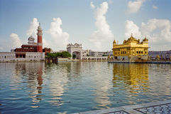 Golden temple of the Sikh in Amritsar. Photo of the famous golden temple of the Sikh in Amritsar, India Stock Images