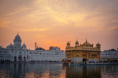 Golden Temple at sunset, Amritsar Royalty Free Stock Photo