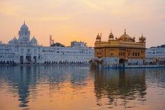 Golden Temple at sunset, Amritsar Stock Photos